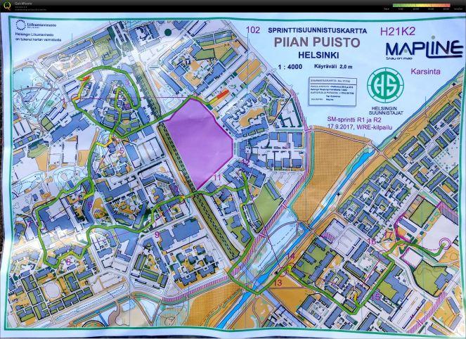 20170917am Finnish SM-Sprint Piian Puisto route.jpg