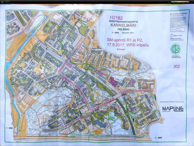 20170917pm Finnish SM-Sprint Kannelmaki route.jpg