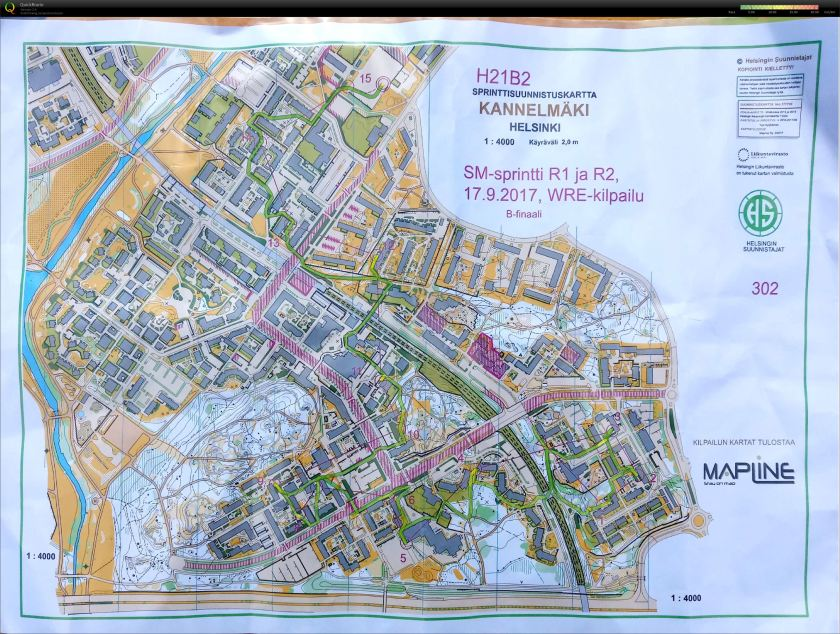 20170917pm Finnish SM-Sprint Kannelmaki route.jpg